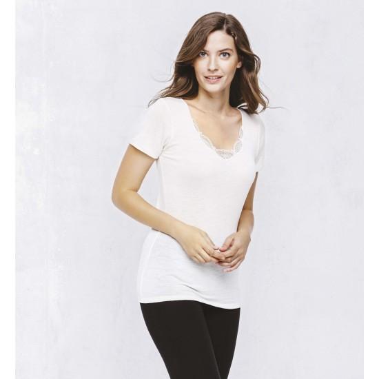 T shirt manches courtes chaud Lemahieu Lingerie mon amour